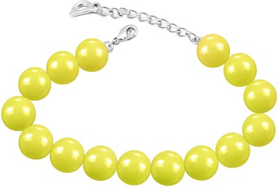 Mahi Alloy Pearl Rhodium Bracelet