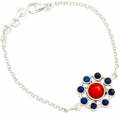 YugshaJewels Silver Coral Bracelet