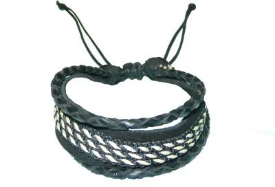 Pearls India Leather, Cotton Dori Bracelet