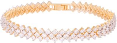 Jewel House Alloy Zircon Yellow Gold Bracelet