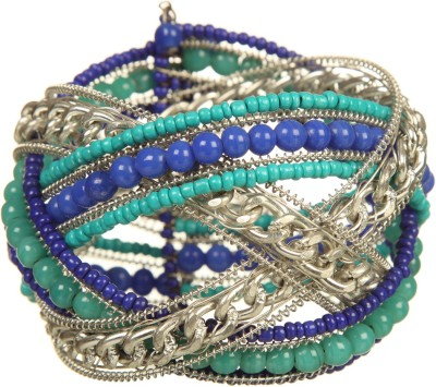 DCA Glass, Steel Rhodium Bracelet