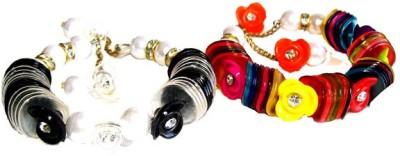 Achal Metal Crystal Enamel Bracelet Set