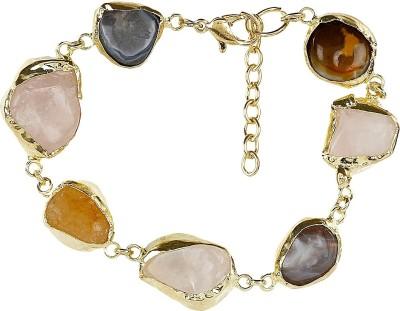 Ornamenta Acrylic Brass Bracelet