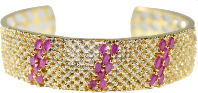 Belleza jewelry Bronze Cubic Zirconia 24K Yellow Gold Bracelet