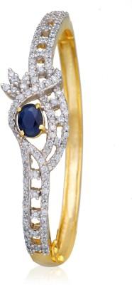 Alysa Alloy Sapphire Yellow Gold, Rhodium Bracelet