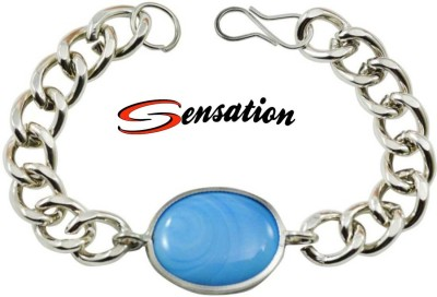 Sensation Metal Moonstone Silver Bracelet
