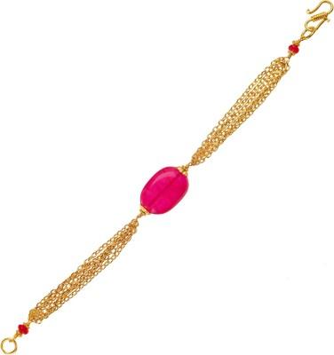 Ijuels Metal, Crystal Crystal Yellow Gold Bracelet