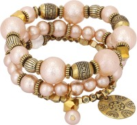 Adwitiya Fashion Copper Pearl Bracelet