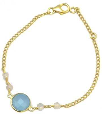 YugshaJewels Silver Chalcedony Bracelet