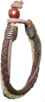Pearls India Leather, Jute, Wood Bracelet