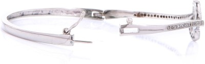 Jewel Fuel Sterling Silver Swarovski Crystal Rhodium Bracelet