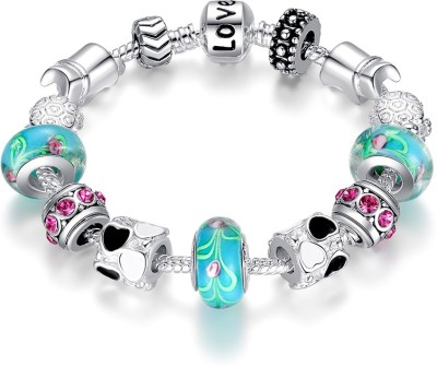 Carina Alloy Sterling Silver Charm Bracelet at flipkart