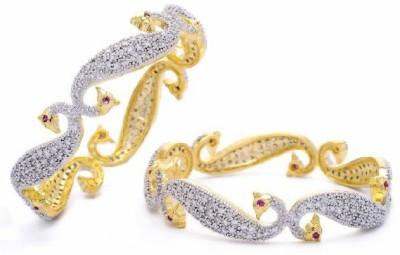 shreejicreations Alloy Diamond 9K Yellow Gold Bangle