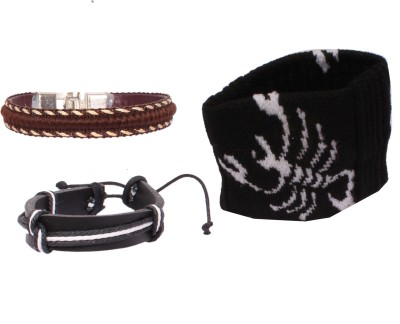 Sushito Leather, Fabric Armlet(Pack of 3)