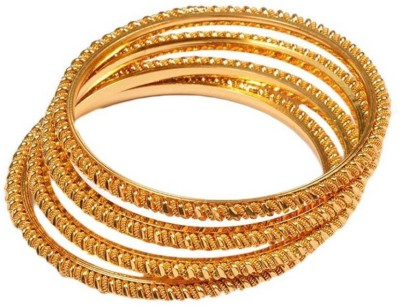 Multiline Company Copper Bangle Set(Pack of 4) at flipkart