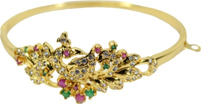 Belleza Jewelry Alloy Zircon 24K Yellow Gold Bracelet