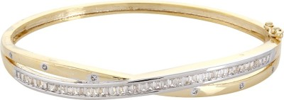 Affinity Silver, Alloy Cubic Zirconia 22K Yellow Gold Bracelet