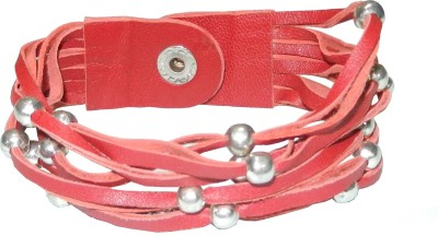 Pearls India Leather, Metal Bracelet