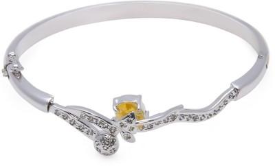 Swarnaratnam Alloy Cubic Zirconia Rhodium Bracelet