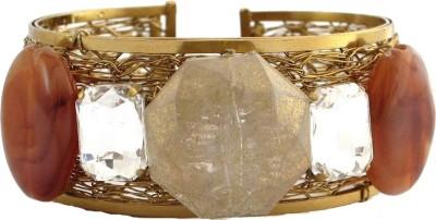 The Jewel Box Brass Cubic Zirconia Cuff at flipkart