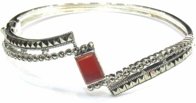 Jewelshingar Brass Cubic Zirconia Rhodium Bracelet