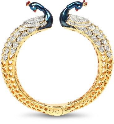 Johareez Brass Cubic Zirconia Yellow Gold Kada
