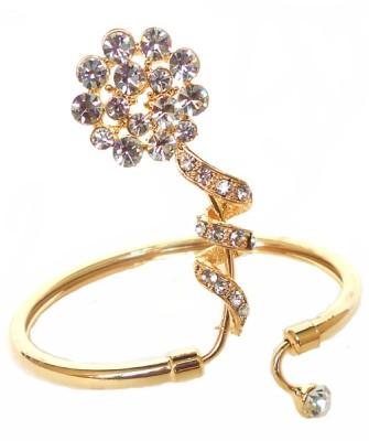 Achal Metal Crystal Yellow Gold Bracelet