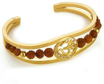 Arihantartjewellers Brass Cubic Zirconia Yellow Gold Kada