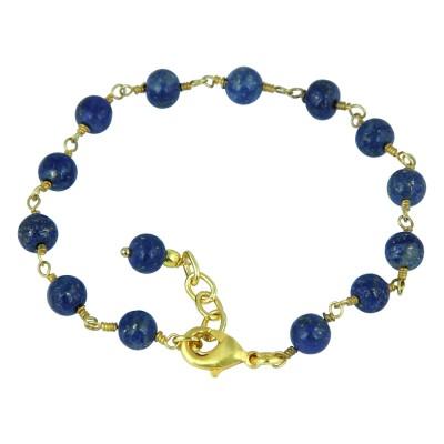 Pearlz Ocean Alloy Lapis Lazuli Bracelet