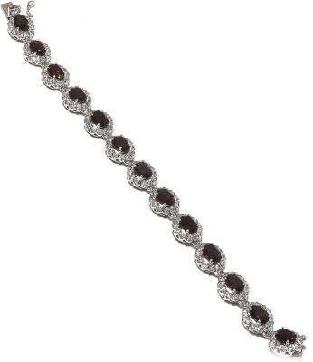 Be You Sterling Silver Quartz Rhodium Tennis Bracelet