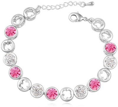 Kyra Alloy Zircon Rhodium Bracelet