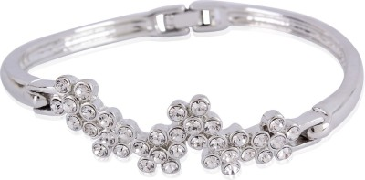 Estelle Alloy Crystal Silver Bracelet