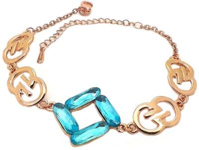 Beora Alloy Crystal Rose Gold Bracelet