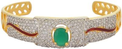 Waama Jewels Bronze Cubic Zirconia Yellow Gold Kada
