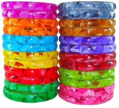 Multiline Company Alloy Bangle Set(Pack of 24) at flipkart
