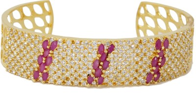 BELLEZA JEWELRY Alloy Cubic Zirconia 24K Rose Gold Bracelet