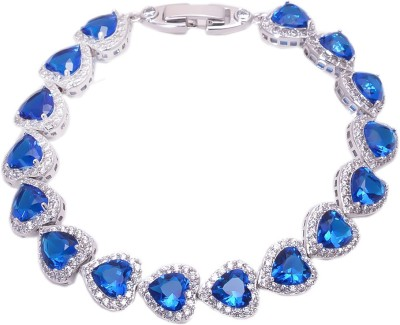 Crazymee Copper Cubic Zirconia Platinum Bracelet
