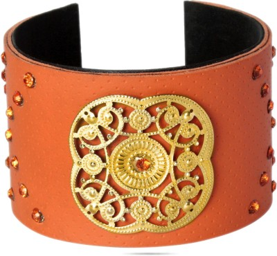Sparkle Street Crystal, Leather Cuff