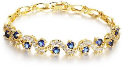 Yellow Chimes Alloy Zircon Rhodium Bracelet