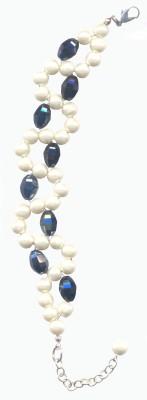Pearls India Glass, Plastic, Metal Bracelet