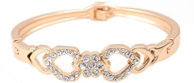Amour Alloy Crystal Yellow Gold Bracelet
