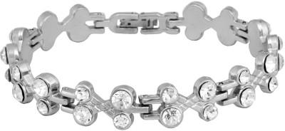Rich Club Sterling Silver Diamond Silver Bracelet
