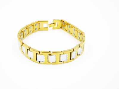 Nature Therapy Titanium 18K Yellow Gold Bracelet