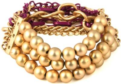 Jewelizer Alloy Rose Gold Bracelet