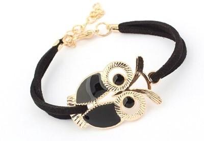 GalexiaR Leather, Alloy 18K Rose Gold Bracelet