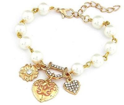 Amour Alloy, Crystal Crystal Charm Bracelet