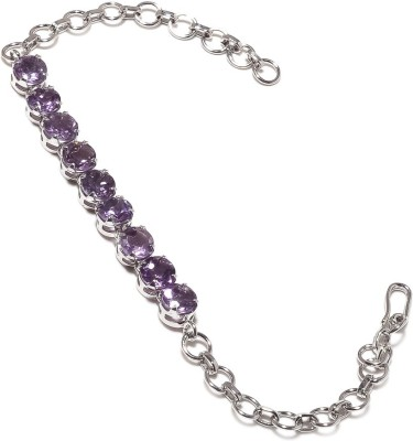 Be You Sterling Silver Amethyst Rhodium Tennis Bracelet