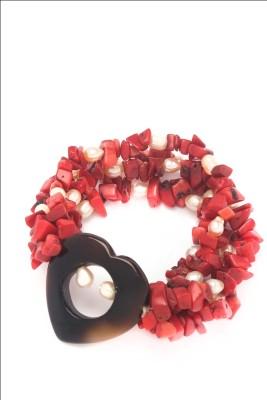 Just Women Boys Bracelet(Red, Pack of 1)