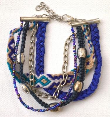 Purple Veronica Rubber Bracelet