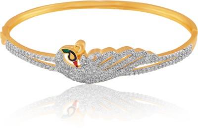 American Diamond Copper, Brass Cubic Zirconia Yellow Gold, Rhodium Bracelet